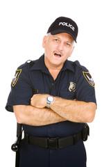 Police Officer - Amazed