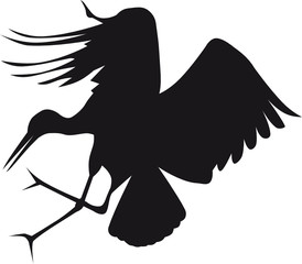 illustration svg heron