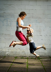 Jumping family.