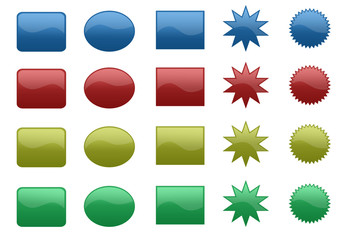 Colored shapes buttons