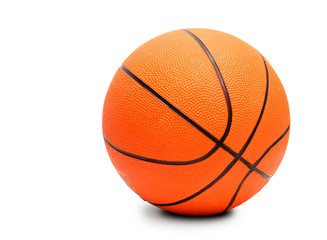Basketball ball. Isolated on white.