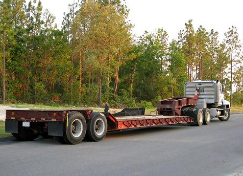 flatbed semi truck
