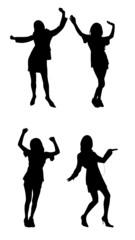 dancing woman silhouettes