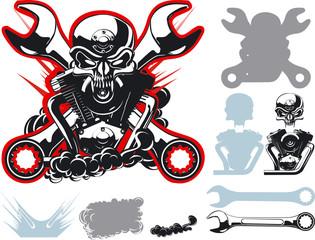 Vector bykers simbols set
