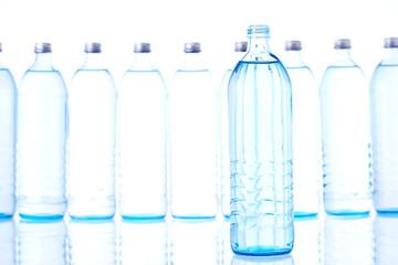 open bottle of water