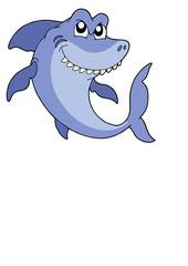 Smiling shark vector illustration