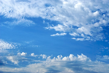 cloud filled sky