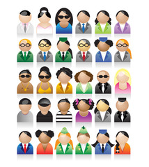Set of peoples icons