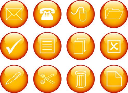 Glossy Buttons mit verschiedenen Icons