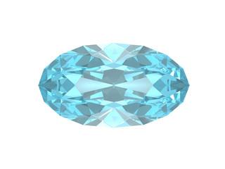 Blue topaz. Oval form.
