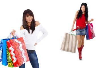 Two shopping girl