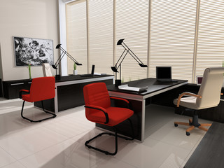 Interior of modern office