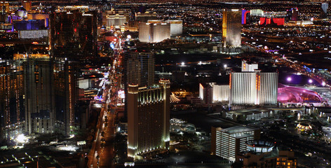 Las Vegas at night panorama