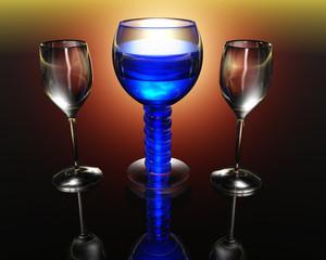 wine glass in 3D