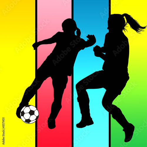Chicas Jugando Al Futbol Stock Photo And Royalty Free Images On