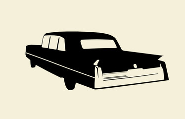 Oldtimer US Car Illustration