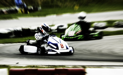 Poster Motorise go kart racing