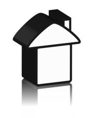 logo noir de maison