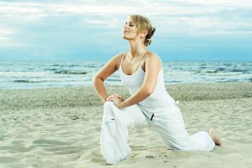 Fitness on the beach.