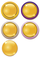 Buttons Button Knopf yellow gelb