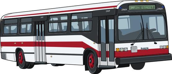 Fotobehang Londen rode bus city bus