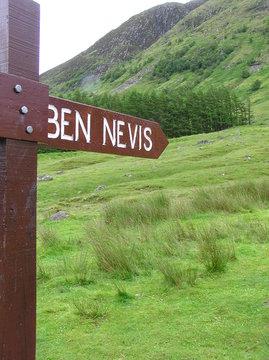 Ben Nevis Sign