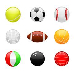 glossy ball set vector