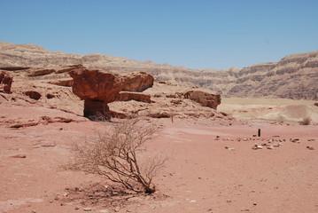 """Israel. Wüste Negew. Timna Park. Einer der berümten """"Pilze"""""""