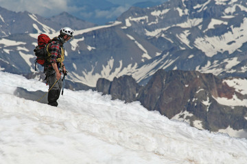 Alpiniste au Mont Blanc