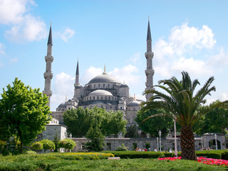 Blue Mosque, spring view