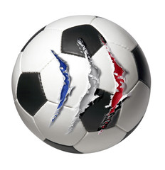 soccer ball scratched