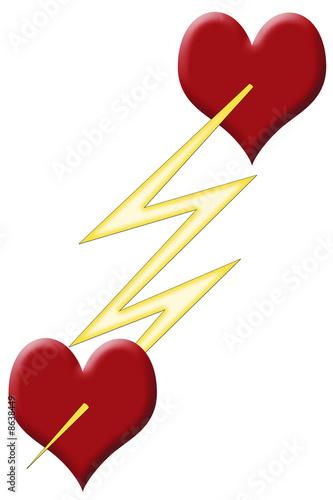 Coeur coup de foudre photo libre de droits sur la banque d 39 images image 8638449 - Coup de foudre reciproque ...