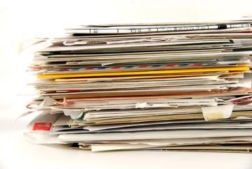tas de courriers