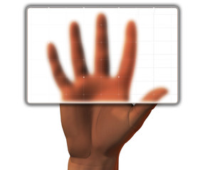 scanned hand before get access