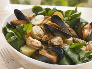 Mussel Watercress and Potato Salad