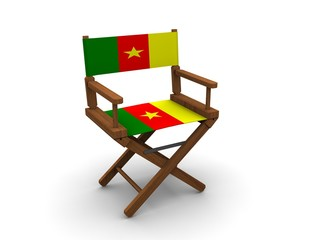 Chair with flag of Cameroon