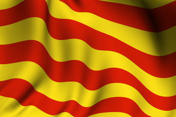 Rendered Catalunyan Flag