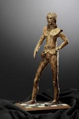 """papier mâché sculpture """"damerino"""" by Spartaco Refolo"""