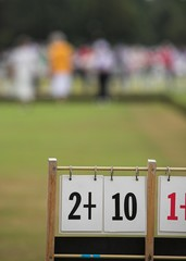 Game of Bowls. Focus on Scoreboard