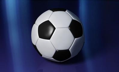 fußball mit blauem hintergrund