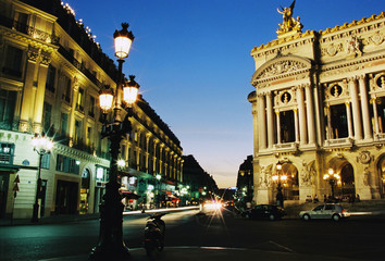 Grand Opera Paris in night