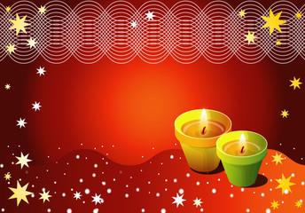 Season's Greeting - Diwali Lamps
