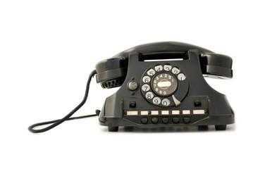 Telefono nero bachelite - front side