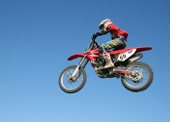 La pose en embrasure Motocyclette Flying biker