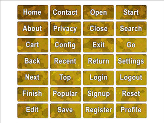 Yellow Desert Military Camouflage Effect Web Interface Buttons
