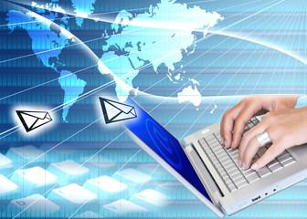 e-mail bleu