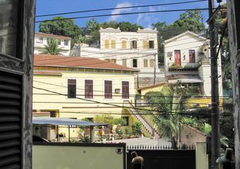 Maisons en espalier, Rio, Brésil.