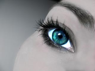 blue glamour eye close up