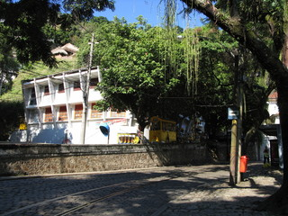 Rue de Santa Teresa, Rio de Janeiro, Brésil.