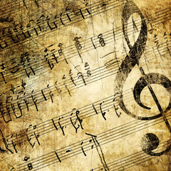 musical background in grunge style